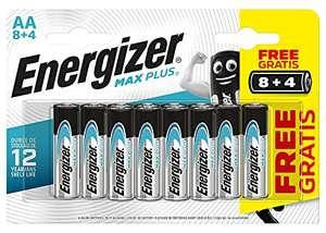 Energizer MAX PLUS - Pack de 8+4 Pilas alcalinas MAX Plus AA / LR6