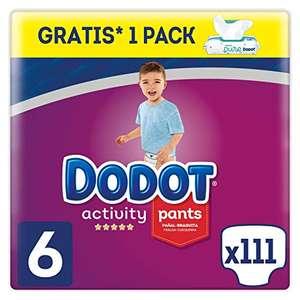 Dodot 111 Pañales Activity Pants Talla 6 (+15 kg) + 48 Toallitas Dodot Aqua Pure de Regalo