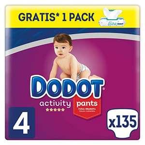 Dodot 135 Pañales Activity Pants T4 (9-15 kg) + 48 Toallitas Dodot Aqua Pure de Regalo