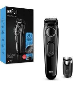 Braun Recortadora de Barba con Dial de Precisión y Peine, Cuchillas Afiladas de Larga Duración, Negro