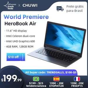 """CHUWI HeroBook Air 11'6"""" 4GB, 128GB, SSD (Desde España)"""