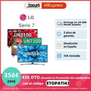 """TV 55"""" LG Serie 7, UN7100, UN7400 y UN7300 (con Magic Control )"""