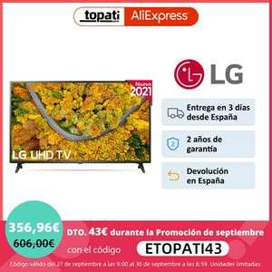 Televisión LG 43UP75006LF 43 Pulgadas Smart TV 4K UHD   Envío gratis desde España