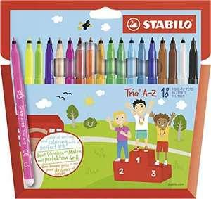 Rotulador escolar STABILO Trio AZ - Estuche de 18 colores