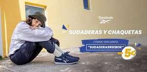 5€ descuento en sudaderas Reebok + 3€ en novedades Adidas y vuelta al cole
