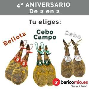 2 Paletas ibéricas desde 89,95€ (Cebo/Cebo de campo/Bellota)