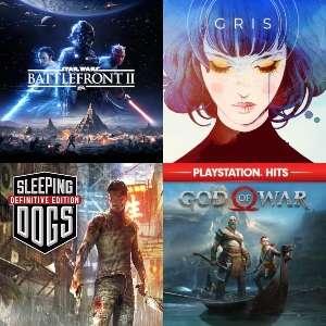 PlayStation :: God of War, Sleeping Dogs Definitive Edition, STAR WARS Battlefront™ II, Gris, Nioh