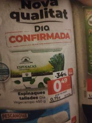 Espinacas cortadas en Supermercados DIA