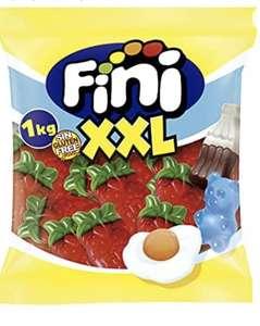 1 kilo de Fini Golosinas | Gominolas de Fresas Salvajes Almidón | Caramelos de Goma Brillo Sin Gluten y Sin Grasa