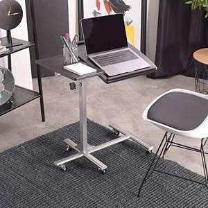 Mesa para Ordenador portátil, Altura Ajustable, con Ruedas