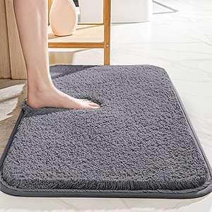 Alfombra de baño antideslizante, absorbente, suave y esponjosa,(DISPONIBLE GRIS Y AZUL ZAFIRO, 40 x 60 cm)
