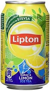 Lipton Ice Tea Bebida Refrescante de Extracto de Té con Zumo de Limón con Stevia - 330 ml - [Pack de 8]