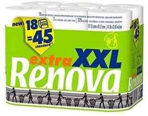 Renova Papel Higiénico Extra XXL, 18 Rollos equivalentes a 45 Rollos Estándar (compra recurrente)