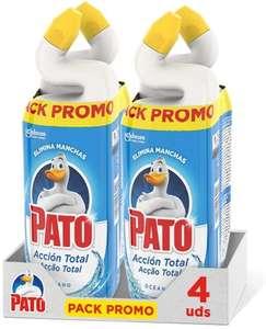 Pato - WC Acción Total limpiador para inodoro Oceano, limpia y perfuma, 750ml (2 x Duo Pack, 4 unidades)