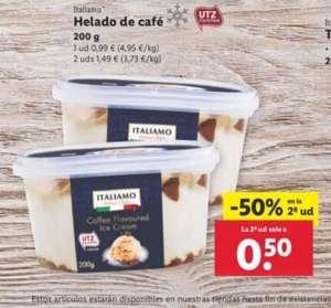2 tarrinas de helado de café por 1,49€ (1 unidad por 0,99€) - YA DISPONIBLE