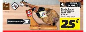 Paleta Duroc Gran Reserva Valja 4'9KG (Origen Madrid)(Oferta solo en tienda) solo 25€
