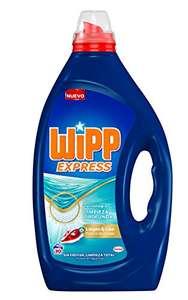 Wipp Express Detergente Lavadora Líquido Limpio & Liso, 30 lavados