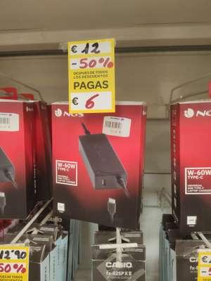 Cargador portátil USB C 60w en Carrefour de Terrassa