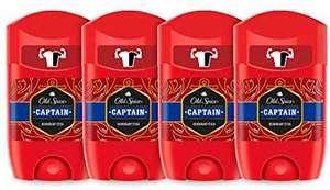 PACK X4 Old Spice Captain Desodorante en Barra para Hombres, 50 ml