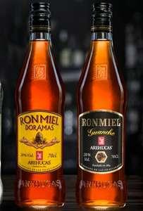700ml Ron Miel Arehucas Doramas a 8,20€ y Ron Miel Arehucas Guanche 7,95€