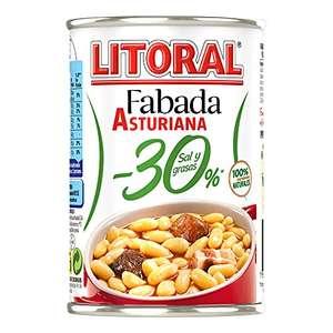 LITORAL Fabada Asturiana baja en sal y grasas 435 gr