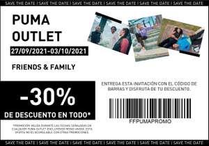 30% descuento en tiendas PUMA Outlet