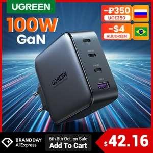 UGREEN-cargador USB tipo C GaN de 100W (A partir del 07/10 a las 10.00)