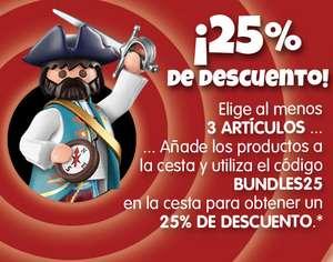 Playmobil - 25% de Descuento con al menos 3 artículos