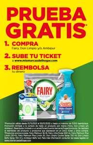 Prueba gratis hasta 3 productos (Ambipur, Fairy y Don Limpio) (reembolso)