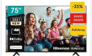 """HISENSE TV LED 190,5 cm (75"""") Hisense 75A6G UHD 4K , Dolby Vision, HDR 10+, HDMI 2.1tb en corte inglés"""
