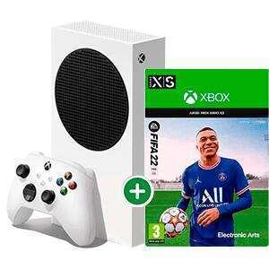 Microsoft Xbox Series S + FIFA 22 [Ahorra Microsoft Reward, Tarjetas regalos, -49 euros]
