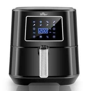 Bear-freidora de aire sin aceite, 5,5 l, LED, táctil inteligente, 360 ° - Desde España