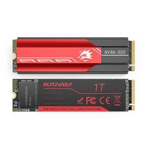 SSD 1TB BlitzWolf BW-NV6 M.2 NVMe PCIe [Incluye Disipador][Con Caché DRAM 1GB]