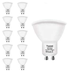 10 Bombillas LED Blanco Cálido