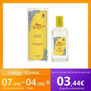 Alvarez Gomez Agua de Colonia Concentrada 80ML - Fragancia Cítrica y Fresca de Lavanda, Eucalipto, Geranio, Limón y Aceites esenciales