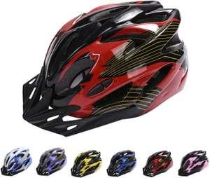 Casco ajustable con visera extraíble para ciclismo 6 colores disponibles rojo, amarillo,blanco,morado,azul,rosa