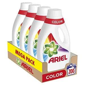 Ariel Detergente Lavadora Líquido, 200 Lavados (Pack 4 x 50)