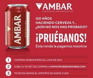 Pruébalo gratis cerveza Ambar (Reembolso)