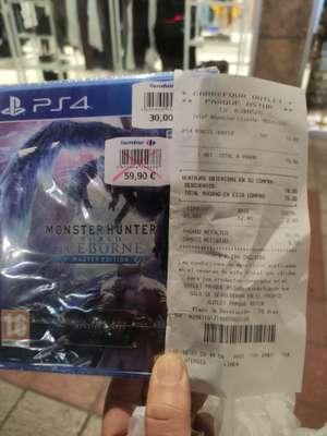 monster hunter world iceborne master edition ps4 (Carrefour en ParqueAstur en Asturias))