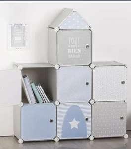 Mueble Almacenamiento Castillo Azul