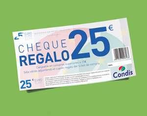 25€ de regalo por cada 100€ de compra en Condis