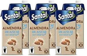 Santal Bebida Vegetal de Almendra, sin Azúcar, 6 x 1L (compra recurrente)