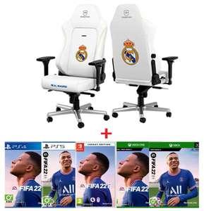 Silla Gaming NOBLECHAIR REAL MADRID + FIFA 22