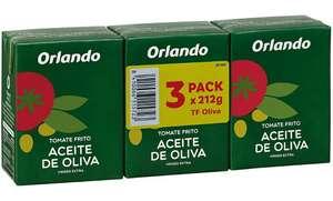 3 x 210g Orlando Tomate Frito Aceite de Oliva Virgen Extra