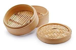 3 Utensilios de Bambú para Cocinar al Vapor