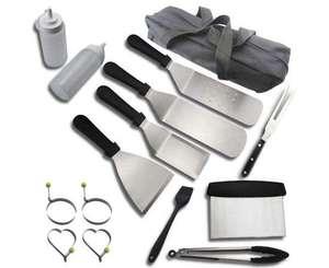 Set con 15 accesorios para barbacoa y plancha
