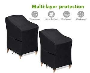 2 fundas para sillas de jardín o terraza impermeables (65x65x80/120cm)