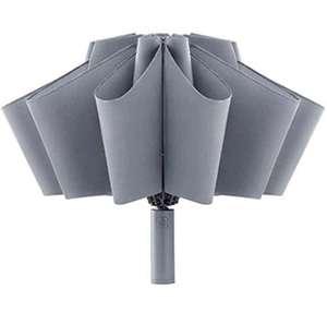 Paraguas Invertido Secado Rápido con Linterna,Anti-UV Parasol,para Lluvioso o Soleado para un Adulto