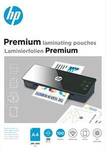 100 Láminas para plastificar HP Premium A4, 125 micras