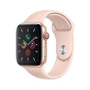 Apple Watch Series 5 (GPS + Cellular, 44 mm) Aluminio en Oro - Correa Deportiva Rosa Arena